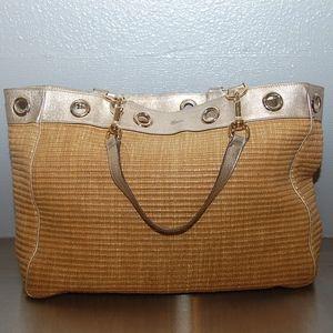 Auth Gucci Straw Tote Bag